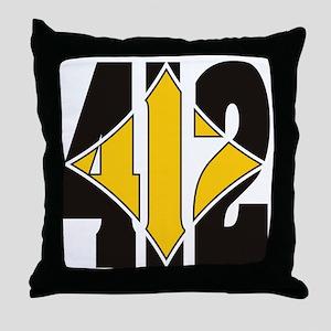 412 Black/Gold-W Throw Pillow