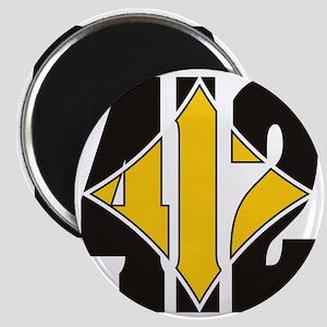 412 Black/Gold-W Magnet