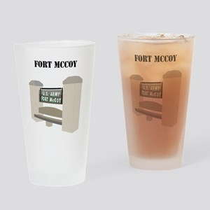 Fort McCoy with Text Drinking Glass