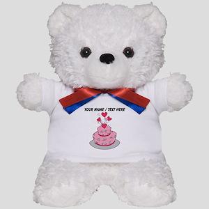 Custom Pink Wedding Cake Teddy Bear