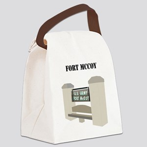 Fort McCoy with Text Canvas Lunch Bag