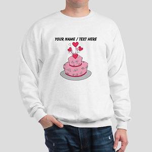 Custom Pink Wedding Cake Sweatshirt