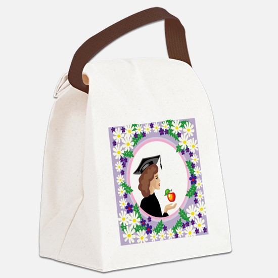 00151_Graduation.gif Canvas Lunch Bag