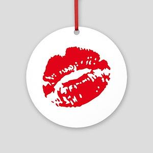 kiss Round Ornament