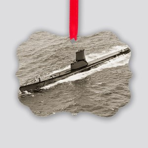 uss sterlet large framed print Picture Ornament
