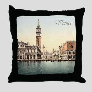Vintage Venice Throw Pillow