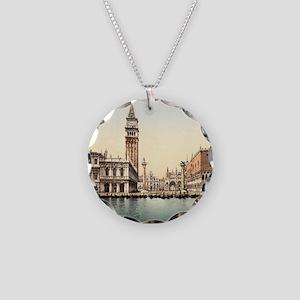 Vintage Venice Necklace Circle Charm