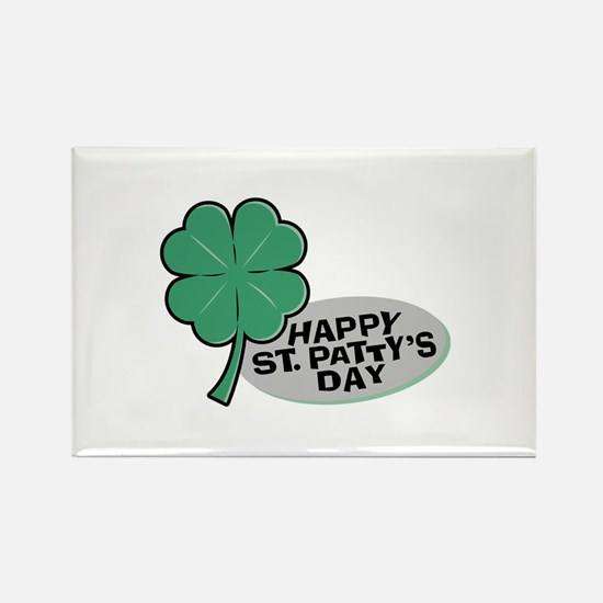 Shamrock - St. Paddy's Day Rectangle Magnet