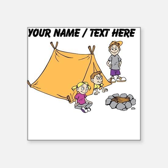 Custom Kids Camping Sticker