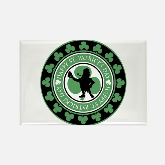 Leprechaun - St. Partrick's D Rectangle Magnet