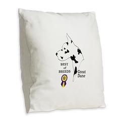 GreatDFawnTee Burlap Throw Pillow
