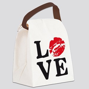 love kiss Canvas Lunch Bag