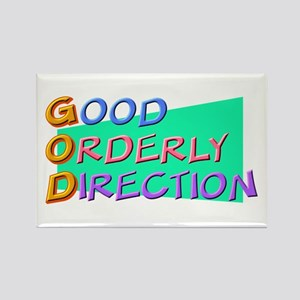 GOD Good Orderly Direction Rectangle Magnet