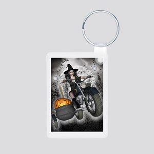 Biker Witch I Aluminum Photo Keychain