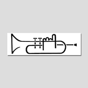 00004_Trumpet Car Magnet 10 x 3