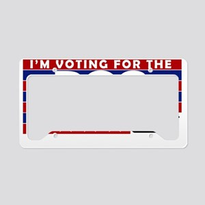 Voting For the Dog License Plate Holder