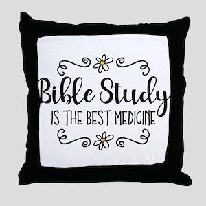 Bible Study Best Medicine Throw Pillow
