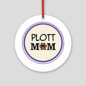 Plott Hound Dog Mom Ornament (Round)