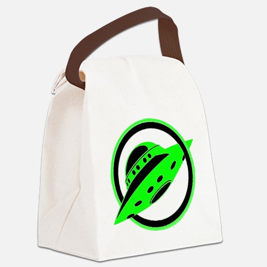 UFO In Flight Canvas Lunch Bag