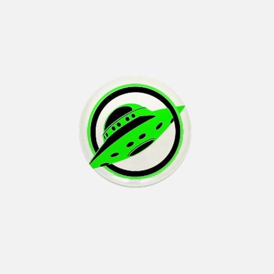 UFO In Flight Mini Button