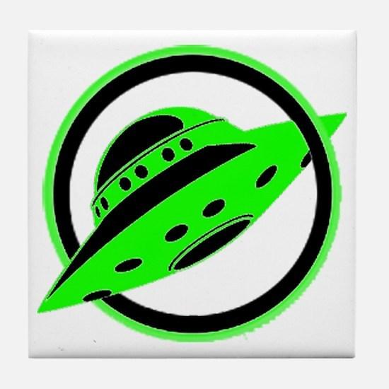UFO In Flight Tile Coaster