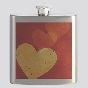 Red and Yellow Vintage Hearts Twin Duvet Flask
