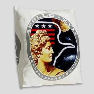 Apollo 17 Mission Patch Burlap Throw Pillow