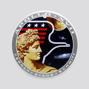 Apollo 17 Mission Patch Round Ornament
