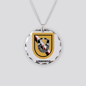 DUI - 1st Special Forces Gro Necklace Circle Charm