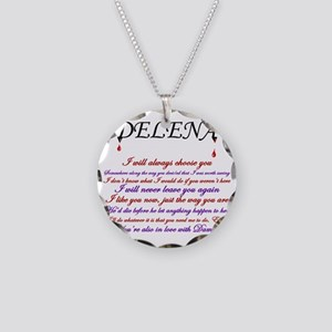 Delena Quotes Necklace Circle Charm