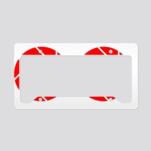 Double Aperture License Plate Holder