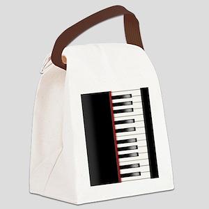 Piano Keyboard Queen Duvet Canvas Lunch Bag