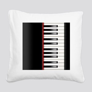 Piano Keyboard Queen Duvet Square Canvas Pillow