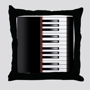 Piano Keyboard Queen Duvet Throw Pillow