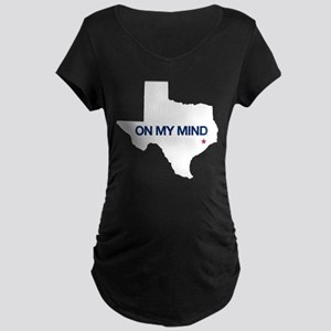 Houston, Texas - On My Mind Maternity Dark T-Shirt