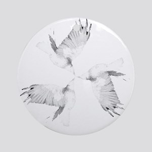 Crow Tessellation Round Ornament