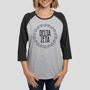 Delta Zeta Arrows Womens Baseball Tee