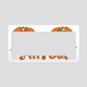 Halloween Pumpkin Alfred License Plate Holder
