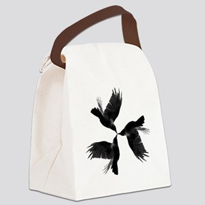 Crow Tessellation Canvas Lunch Bag