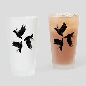 Crow Tessellation Drinking Glass