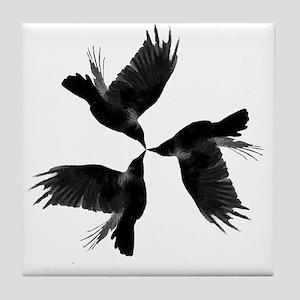 Crow Tessellation Tile Coaster