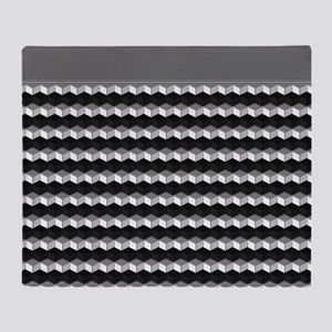 Gray Geometric Shapes Throw Blanket