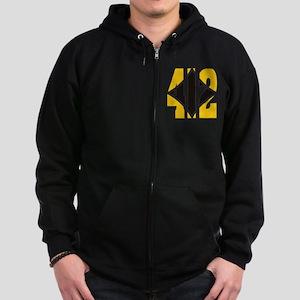 412 Gold/Black-W Zip Hoodie (dark)