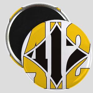 412 Gold/Black-W Magnet
