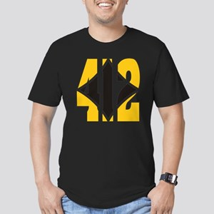 412 Gold/Black-W Men's Fitted T-Shirt (dark)