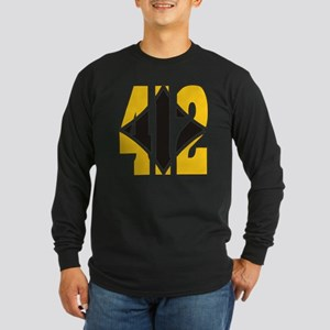 412 Gold/Black-W Long Sleeve Dark T-Shirt