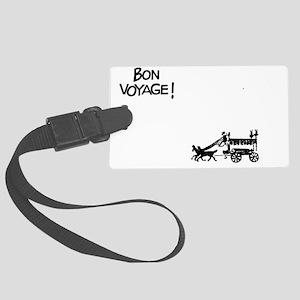 Bon voyage text Large Luggage Tag