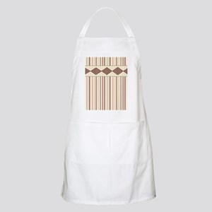 Brown and Pink Stripes Apron