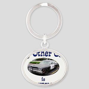 Bluesmobile Oval Keychain