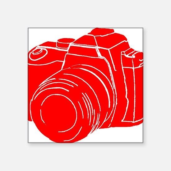 "RED! Square Sticker 3"" x 3"""
